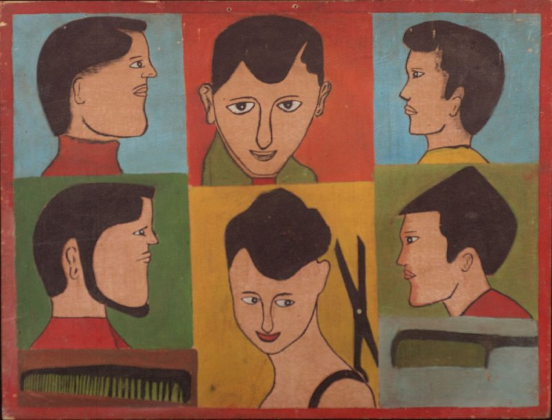 Barber board with six faces