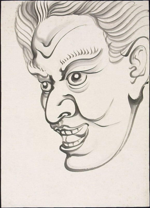 Untitled (Study of Male Head)