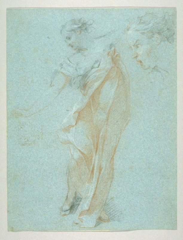 Studies of Draped Female Figure