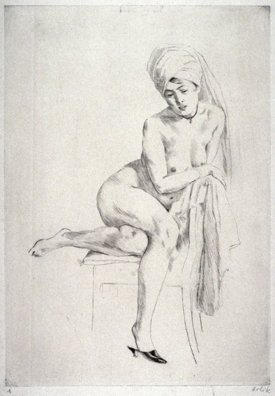 Nude Woman With A Turban