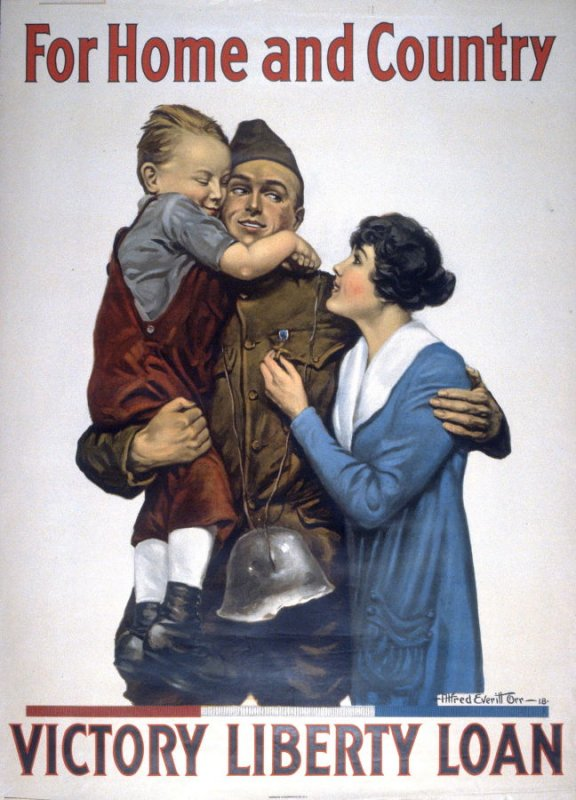 For Home and Country - World War I Poster