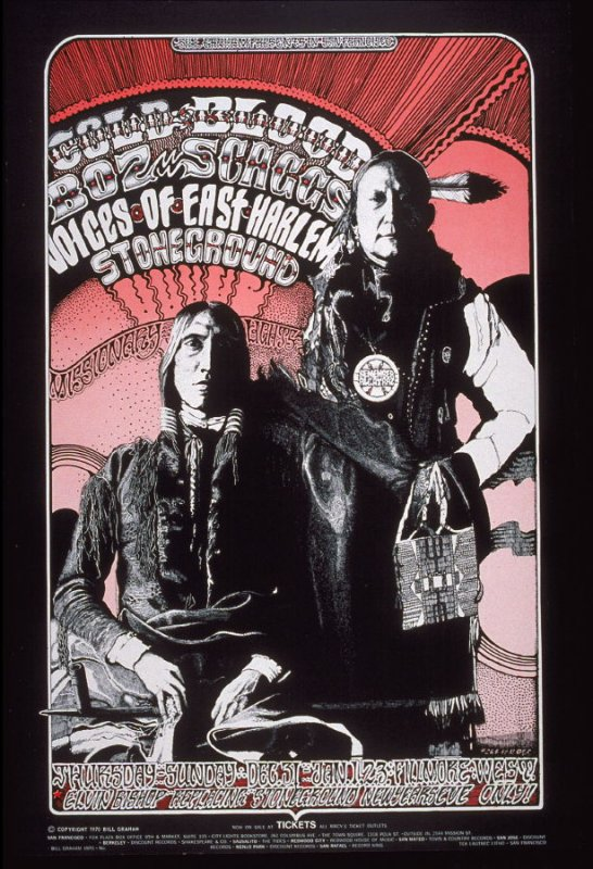 Cold Blood, Boz Scaggs, Voices of East Harlem, Elvin Bishop, Stoneground, December 31 - January 3, Fillmore West