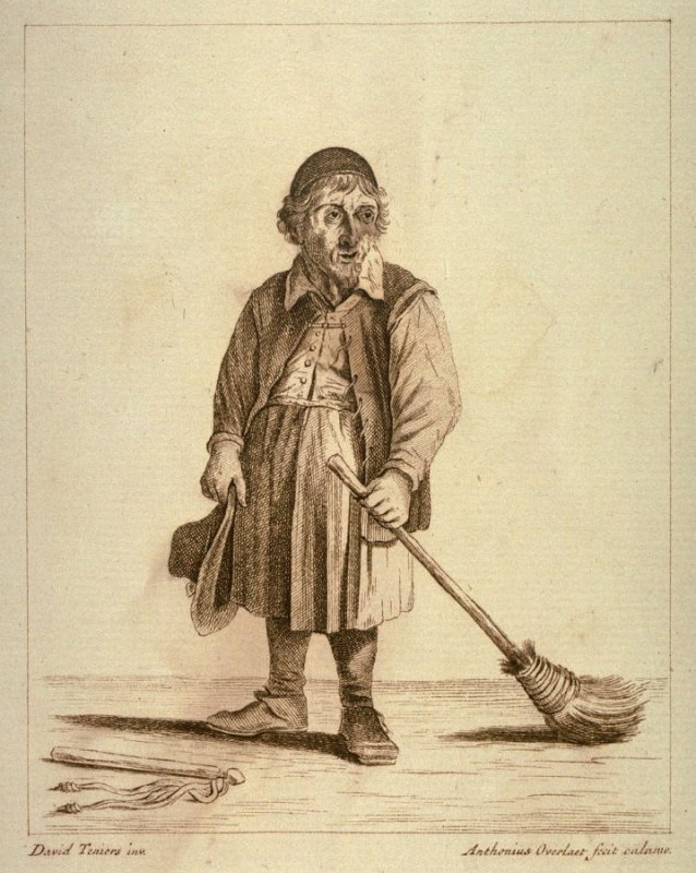 [Man with a broom]