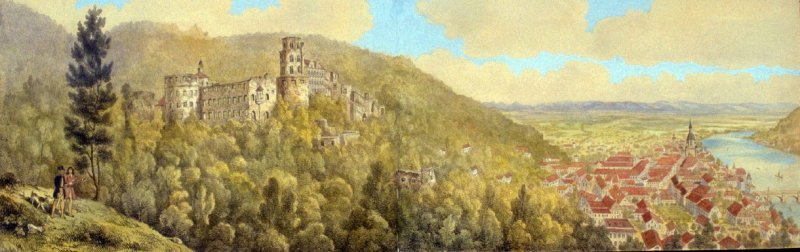 View of the Ruins of Heidelberg and the Town from the Terrace in front