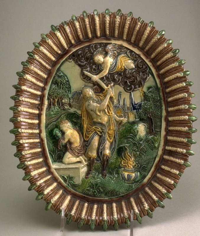 Plate depicting the sacrifice of Isaac