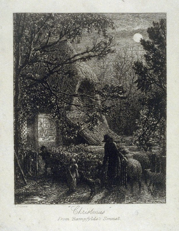 """Christmas"" etching in Samuel Palmer, a memoir by A. H. Palmer"