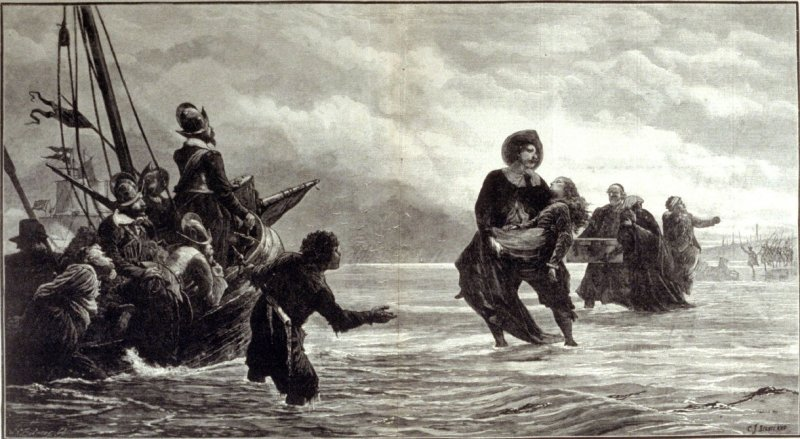 Fleeing from perscution - from Harper's Weekly 4 August 4. 1877), pp. 614 & 615