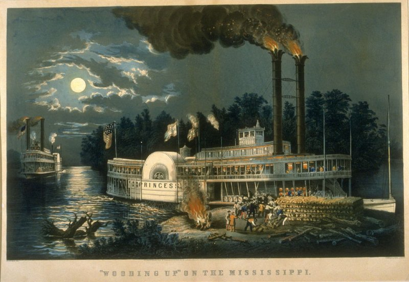 """""""Wooding Up"""" on the Mississippi"""