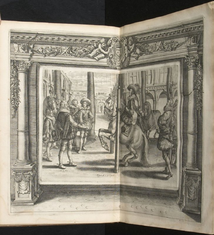 Illustration 13 in the book l'Instruction du Roy en l'exercice de monter à cheval (Paris: Michel Nivelle, 1625)