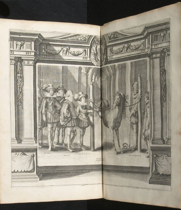 Illustration 38 in the book l'Instruction du Roy en l'exercice de monter à cheval (Paris: Michel Nivelle, 1625)