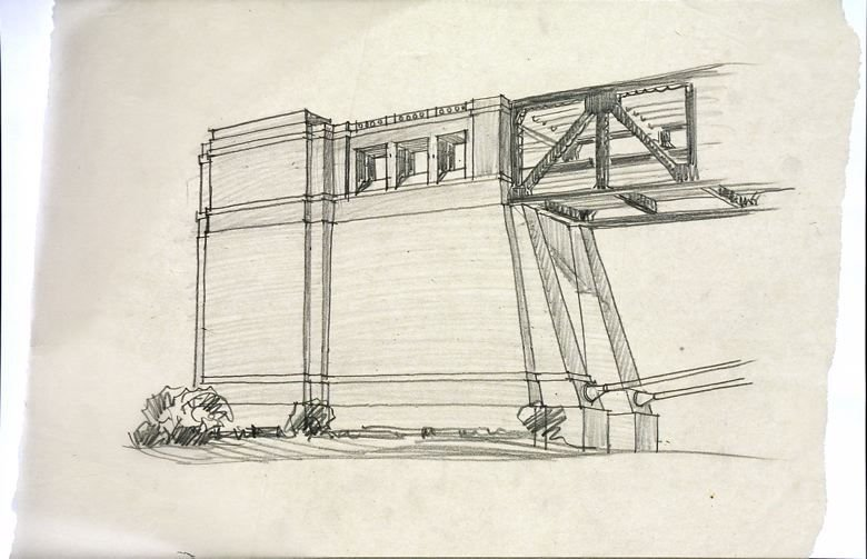 Architectural Study of the Bay Bridge San Francisco Anchorage