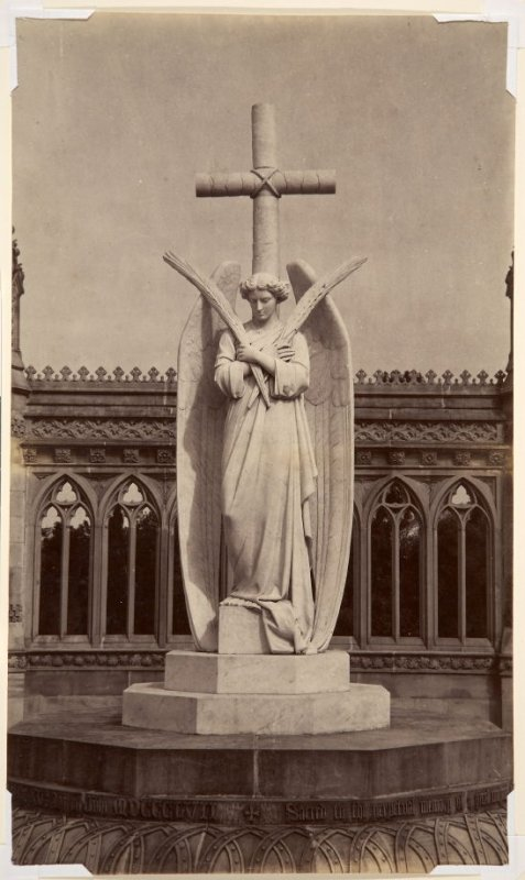 Statue of the Angel in the Memorial Well, Cawnpore