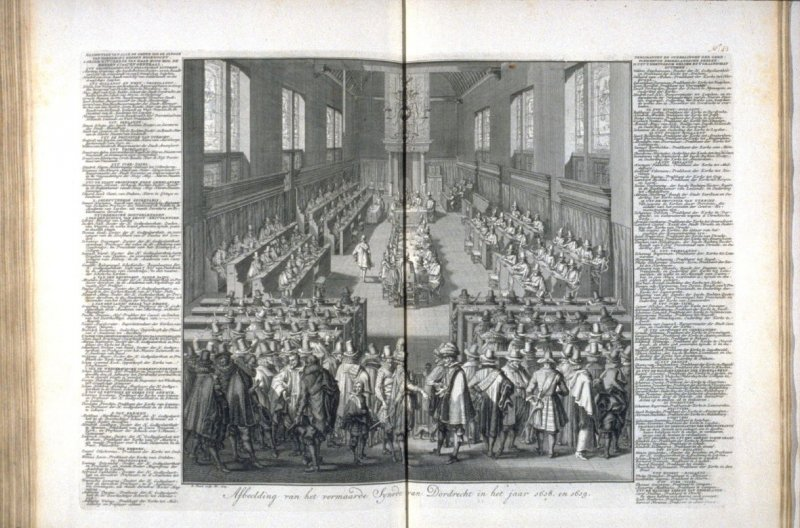 Depiction of the Famous Church Council Meeting at Dordrecht in the year 1618 and 1619 - Pl.45 from: Netherlands 1566-1672