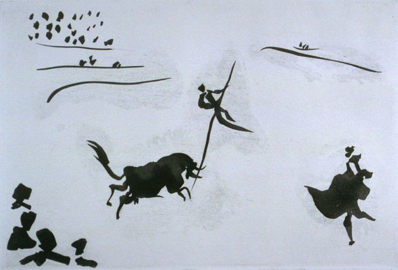 Salto con la Garrocha (Leap with the spear), pl. VIII in the book La Tauromaquia (Bullfighting) by José Delgado alias Pepe Illo (Barcelona: Editorial Gustavo Gili, S.A./Ediciones de la Cometa, 1959)