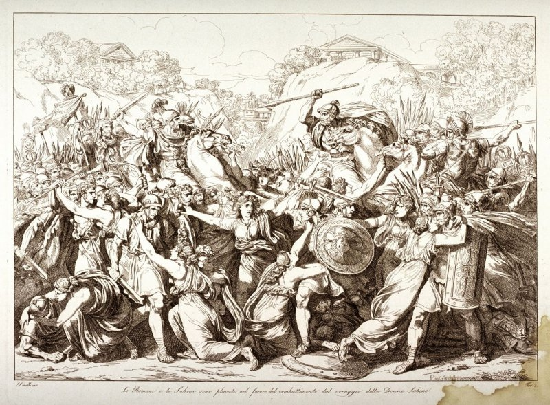 The Sabine Women End the Fighting Between the Romans and the Sabines