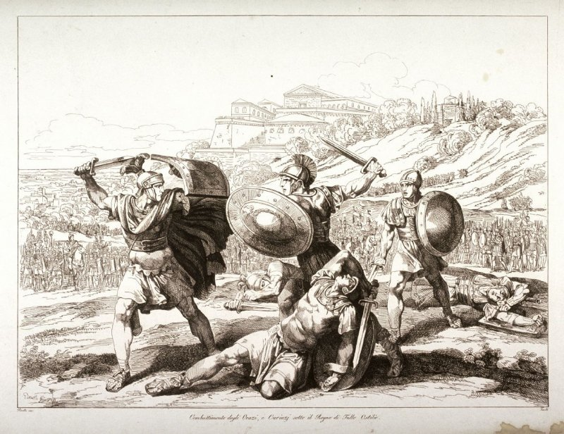 Battle of the Horatii and the Curatii Under the Reign of Tullo Ostilio