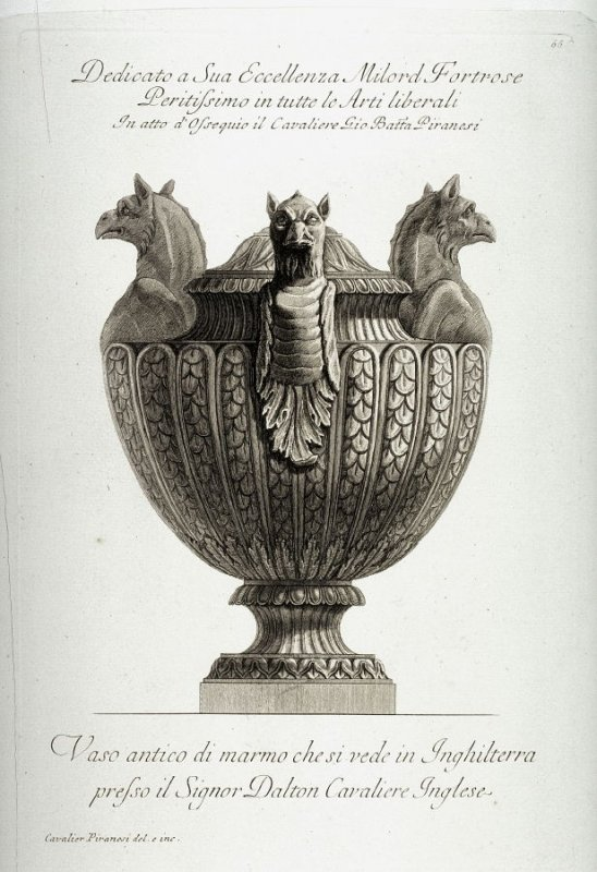 Vase from the Dalton Collection, plate 66, Vol. II, from the series Vasi, candelabri, cippi, sarcophagi...