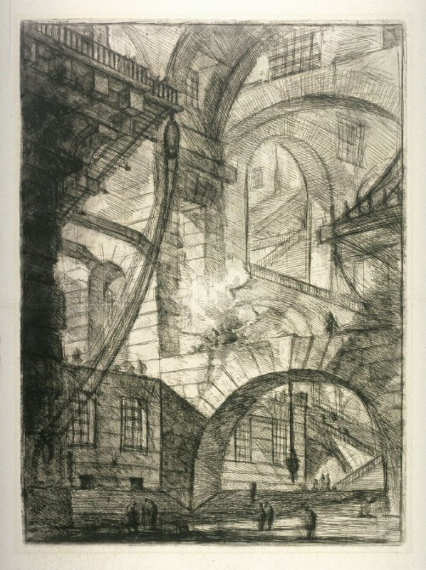 The Smoking Fire, plate VI, from the series Carceri d'invenzione (Imaginary Prisons)