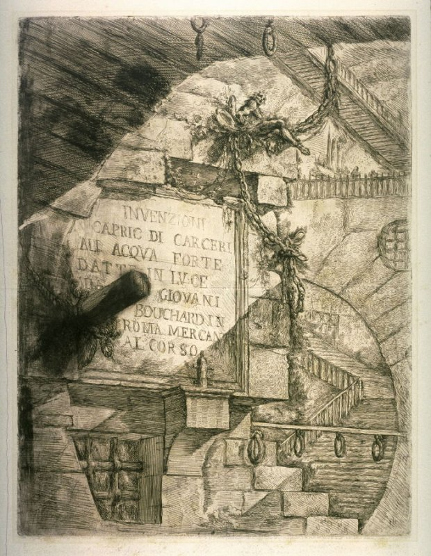 Title plate from the series Carceri d'invenzione (Imaginary Prisons)