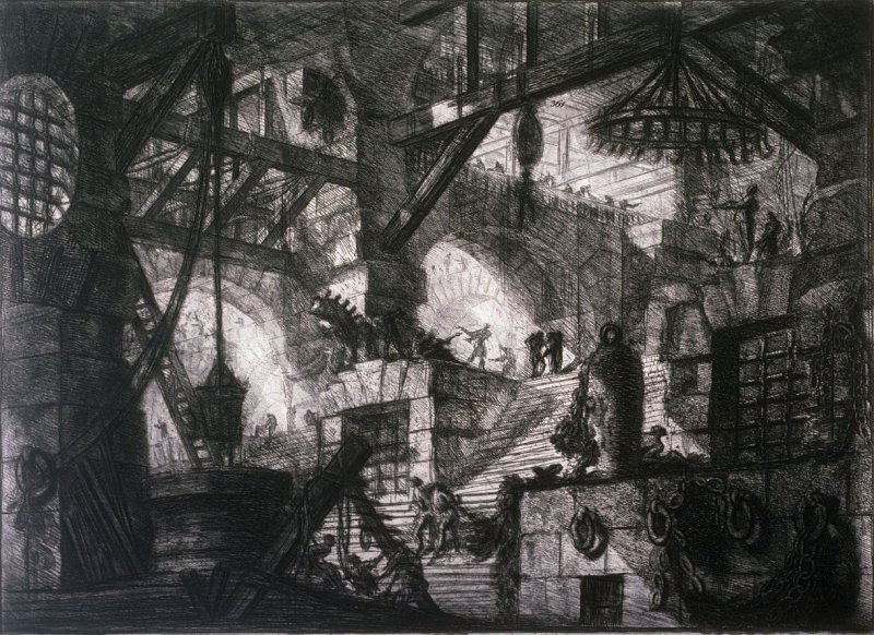 The Well, plate XIII, from the series Carceri d'invenzione (Imaginary Prisons)