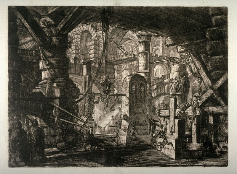 The Pier with Chains, plate XVI, from the series Carceri