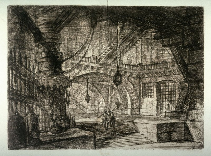The Pier with Chains, plate XVI, from the series Carceri d'invenzione (Imaginary Prisons)