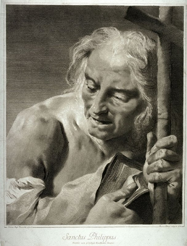 St. Philip, after a chalk drawing by Giovanni Battista Piazzetta