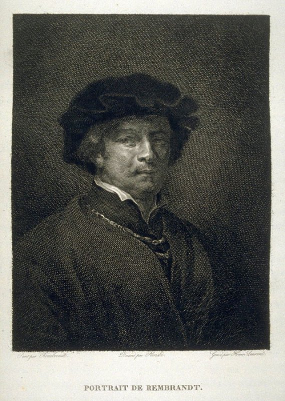 Portrait de Rembrandt...twenty ninth plate in the book... Le Musée royal (Paris: P. Didot, l'ainé, 1818), vol. 2