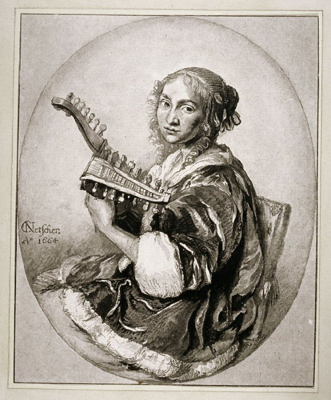 Lady playing the Guitar