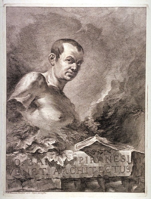 Portrait of Giovanni Battista Piranesi, from the series Le Antichità di Roma (The Antiquities of Rome)