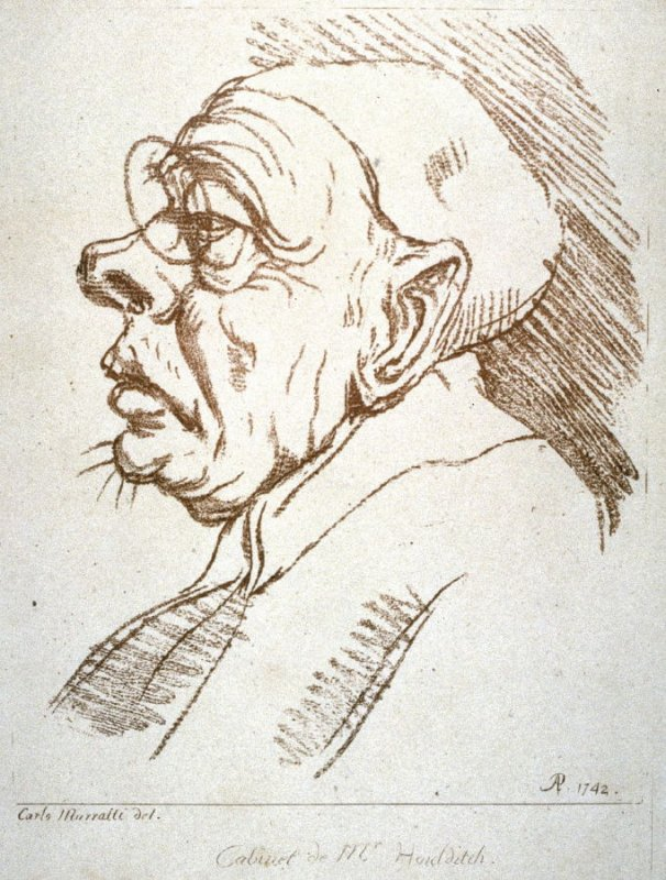A man's head in profile, from the series 'Pond's Caricatures'