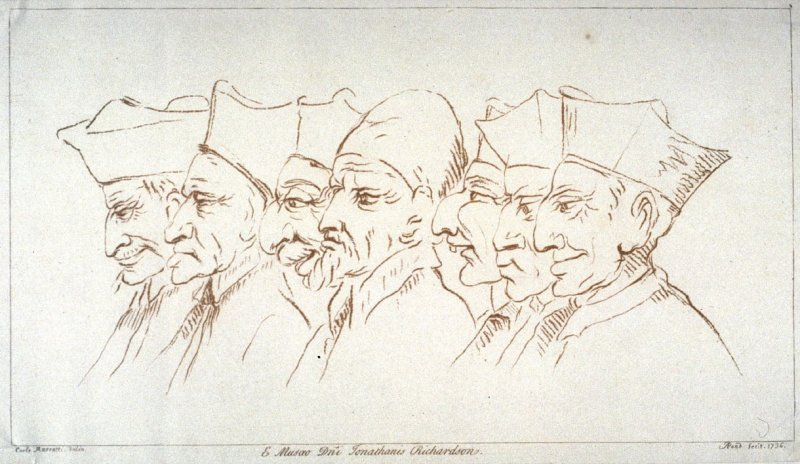A Pope and six cardinals, from the series 'Pond's Caricatures'