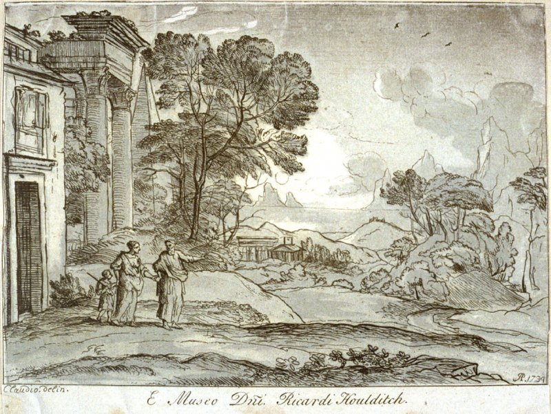 Sea coast with ruins, from the seris 'Prints in Imitation of Drawings'