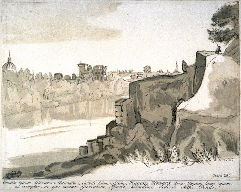 View across the Tiber, from the series 'Prints in Imitation of Drawings'