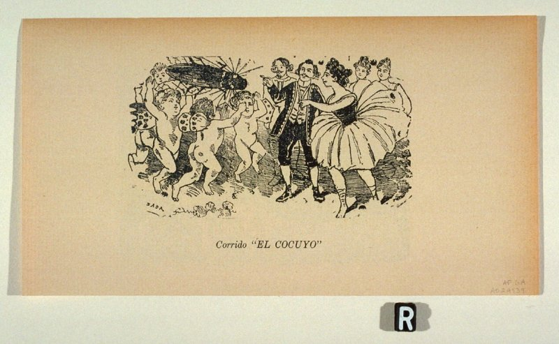 "Corrido ""EL COCUYO"" (Ballad of the Fire-beetle ) as reprinted on p. 131 of the Monografia..."