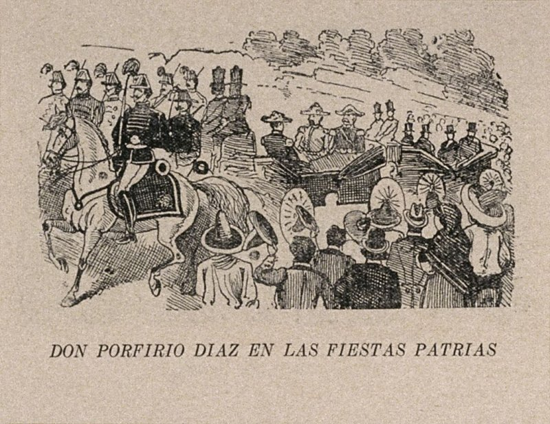 DON PORFIRIO DIAZ EN LAS FIESTAS PATRIAS (Don Porfirio Diaz at the National Holiday Celebration) as reprinted on p. 139 of the Monografia...