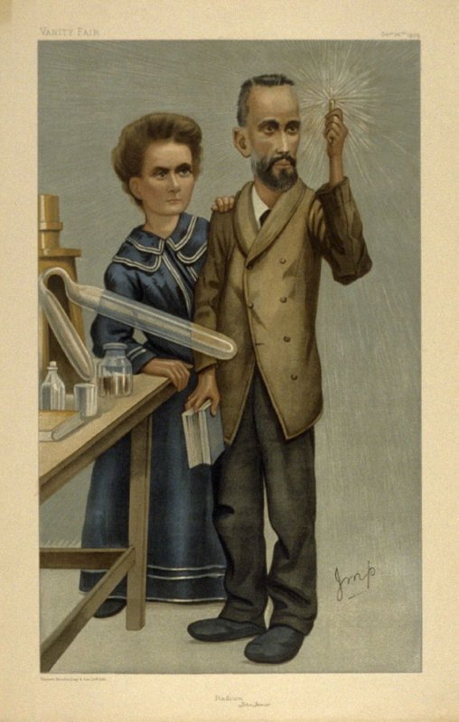 """Raduim"" (Monsieur and Madame Curie), People of the Day No.1, from Vanity Fair December 20, 1904"