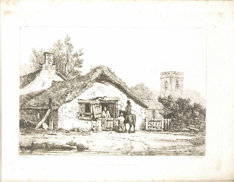 Tavistock [2nd plate], plate 3 in the book A New Drawing Book in the Manner of Chalk, containing Twelve Views in the West of England (London: R. Ackermann, 1819)