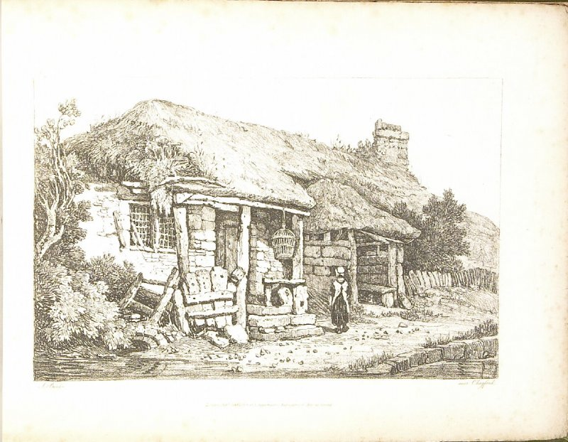 Chagford, plate 9 in the book A New Drawing Book in the Manner of Chalk, containing Twelve Views in the West of England (London: R. Ackermann, 1819)