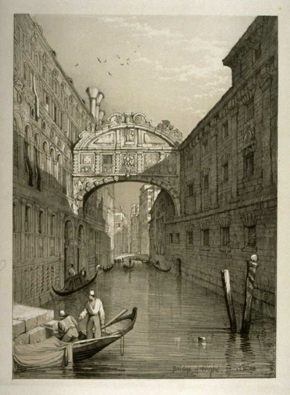 Bridge of Sighs, Venice, nineteenth plate in the book Sketches in France, Switzerland and Italy (London: Hodgson & Graves, [ca. 1840])