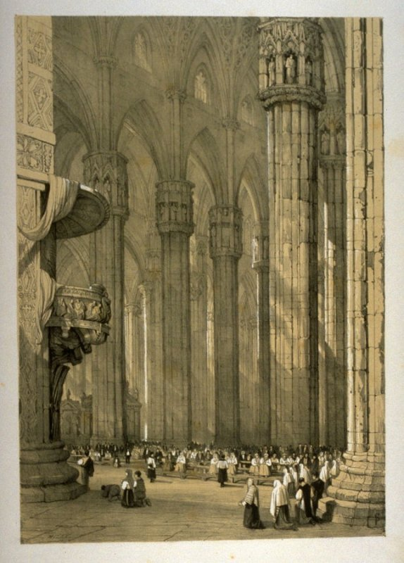 Milan, eighteenth plate in the book Sketches in France, Switzerland and Italy (London: Hodgson & Graves, [ca. 1840])