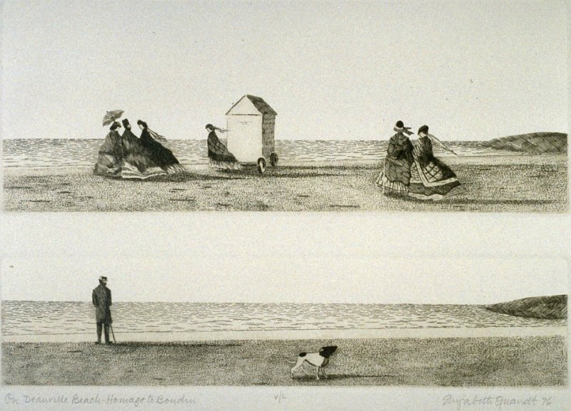 On Deauville Beach from Homage to Boudin