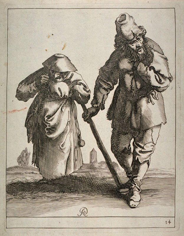 Beggars, man and woman, no. 14 from series of 26 Beggars and Peasants
