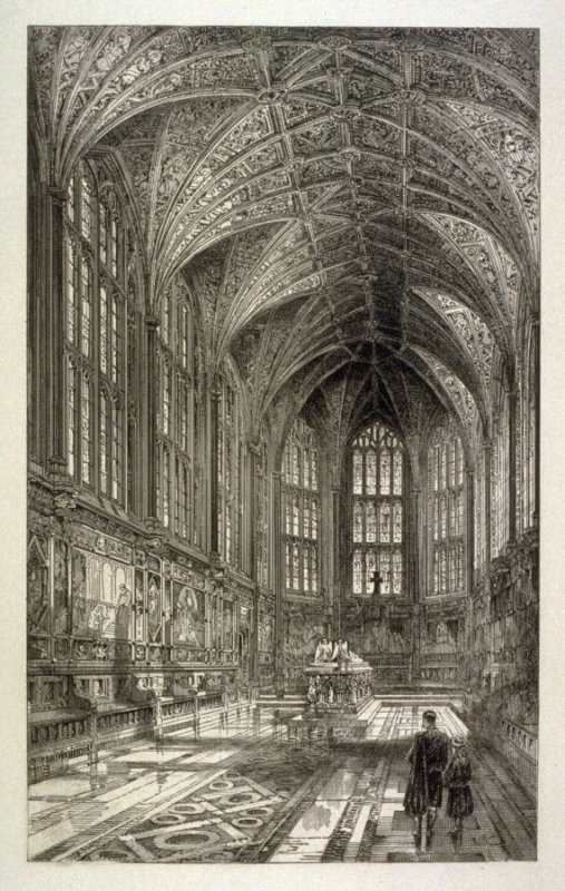 Interior of the Memorial Chapel, Windsor.