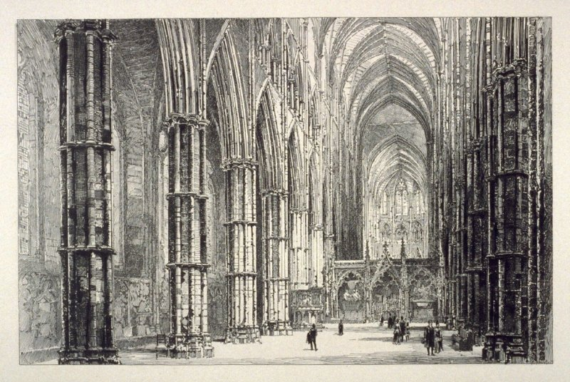 Interior of the Nave, Westminster Abbey.