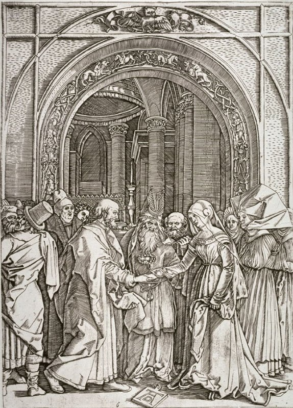 The Marriage of the Virgin, pl. 6 in The Life of the Virgin