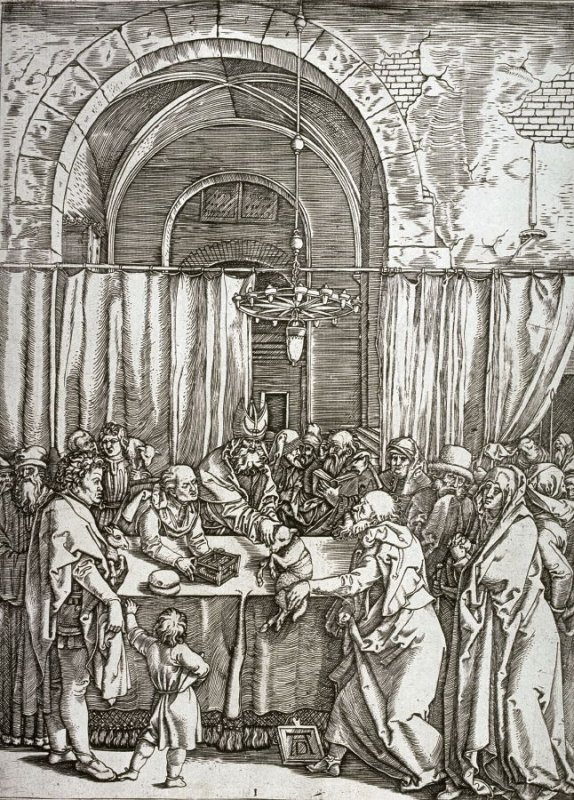 The High Priest Refuses Joachim's Sacrifice, pl. 1 from the series The Life of the Virgin after the woodcuts by Albrecht Dürer