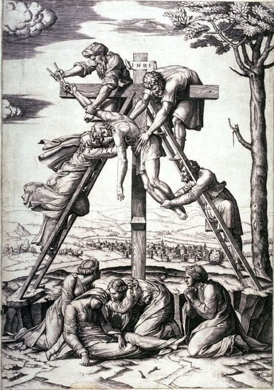 Descent from the Cross, after Raphael.