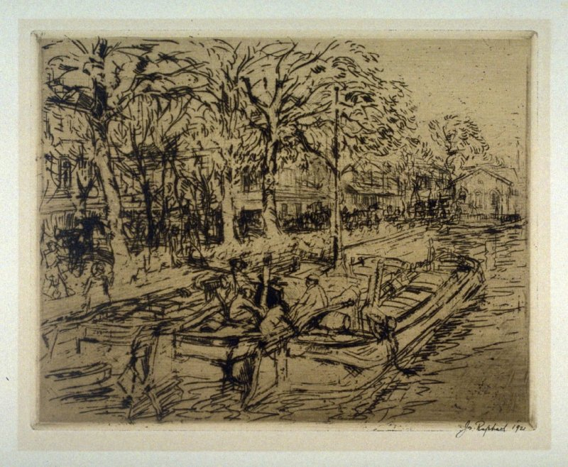 Canal with boats