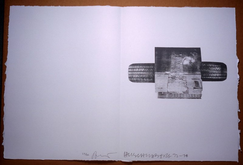 Untitled, pg. 24, in the book Traces suspectes en surface (Suspect Traces on the Surface) by Alain Robbe-Grillet (West Islip, NY: ULAE, 1978)